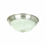 Flush Mount Lighting Series Attractively Styled 2 Lights in Satin Nickel Finish by Yosemite Home Decor