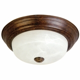 Flush Mount Lighting Series Beautiful 2 Lights in Dark Brown by Yosemite Home Decor