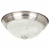 Flush Mount Lighting Series Beautiful 3 Light in Satin Nickel Finish by Yosemite Home Decor