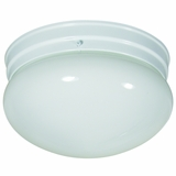 Flush Mount Lighting Series Beautiful Stylized 2 Lights Flush Mount in White by Yosemite Home Decor