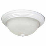 Flush Mount Lighting Series Exclusively Styled 2 Lights in White by Yosemite Home Decor