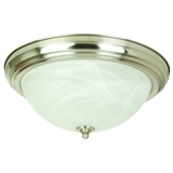 Flush Mount Lighting Series Marvelous 3 Light in Satin Nickel by Yosemite Home Decor