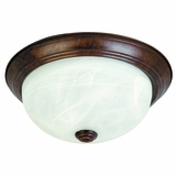 Flush Mount Lighting Series Ravishing 3 Light in Dark Brown by Yosemite Home Decor