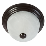 Flush Mount Lighting Series Remarkably Styled 1 Light Flush Mount in Oil Rubbed Bronze by Yosemite Home Decor