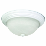Flush Mount Lighting Series Smartly Styled 3 Light in White by Yosemite Home Decor