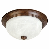 Flush Mount Lighting Series Sparkling 2 Lights Flush Mount in Dark Brown by Yosemite Home Decor