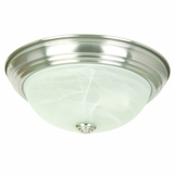 Flush Mount Lighting Series Striking 2 Lights in Satin Nickel Finish by Yosemite Home Decor