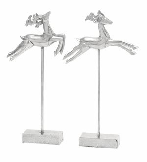 Flying Silver Deer 2 Assorted Holiday Decor