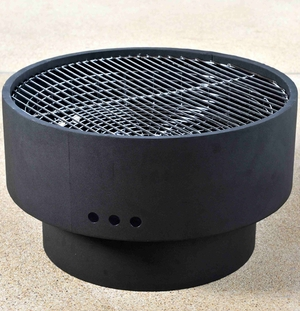 Foggia Fire Pit, Solid And Stylish Unit With Sturdy Wooden Top by Well Travel Living