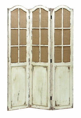 "Folding Wooden Screen with Paneled Design 71"" Height) Brand Woodland"