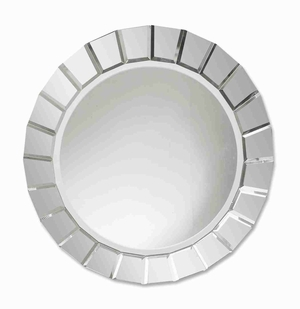 Fortune Frameless Wall Mirror with Beveled Mirror Web Edge Brand Uttermost