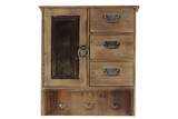 Four Sectioned and Three Hooked Wooden Cabinet