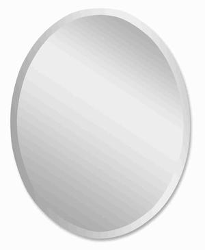 Frameless Large Vanity Wall Mirror with a Polished Smooth Finish Brand Uttermost