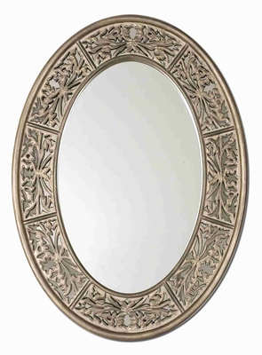 Francesco Wall Mirror with Antiqued Champagne and Gray Glaze Brand Uttermost
