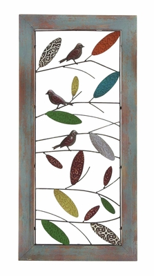 Francisco Attractive Wood Metal Wall Decor Brand Benzara