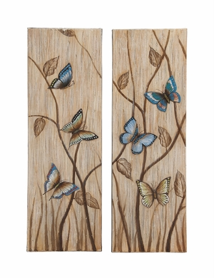 Colorful and Vibrant Butterflies Themed Canvas Wall Art - 92713 by Benzara