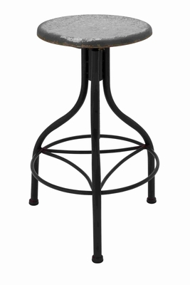 Francisco Classy Attractive Metal Stool Brand Benzara