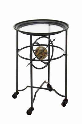 Francisco Glass Accent Table Brand Benzara