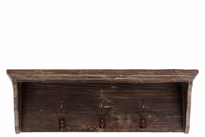 Francisco's Classy Wooden Cabinet with Three hooks