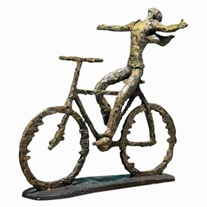 Freedom Rider Figurine Sculpture In Sage Green and Rust Highlight Brand Uttermost