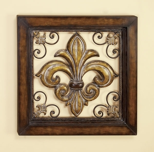 French Accent Fleur Di Lis Metal Wall Decor Art Sculpture Brand Woodland