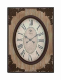 French Antique Analog Wall Clock Brand Benzara