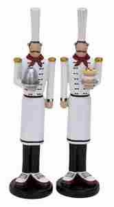 French Chef 2 Assorted, Party Chef Statue, 12 Inch x 3 Inch Brand Woodland