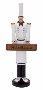 French Chef Decor, Welcome French Waiter Statue 22 Inch x 8 Inch Brand Woodland