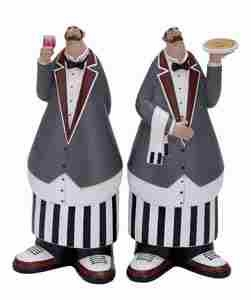 French Chef Waiter 2 Assorted, Fat Party Chef 11 Inch x 5 Inch Brand Woodland