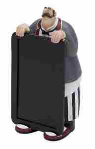 French Chef Waiter with Chalkboard, Fat Chef 10 Inch x 5 Inch Brand Woodland