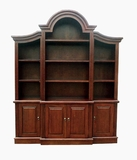 Fribourg Bookcase, Arch Design Creatively Etched Prolific Creation by D-Art