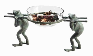 Frog Carrying Glass Bowl Charm The Visitors To Its Natural Beauty Brand SPI-HOME