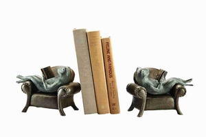 Frogs Reading On Sofa Bookends Supports Passion For Book Care Brand SPI-HOME