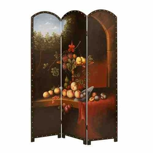 Fruit Potpourri Screen, 3 Panel, 52 Inch L x 72 Inch H Brand Screen Gems