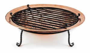 Large Fire Pit - Polished Copper by Good Directions
