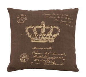 Fun And Charming Paris Postcard And Crown Themed Pillow Brand Woodland