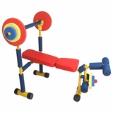 Fun and Fitness for kids - Weight Bench in Steel tube, plastic components by Redmon