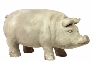 Funky Styled Creative Impish Fiberstone Pig by Urban Trends Collection