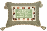 Funny Old Golfers Petit-Point Saying Pillow by 123 Creations