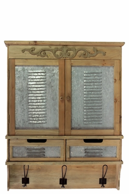 Furnished Brown Colored Designed Wooden Cabinet