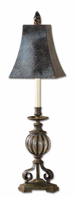 Galeana Antiqued Bronze Iron Seeded Buffet Lamp Brand Uttermost