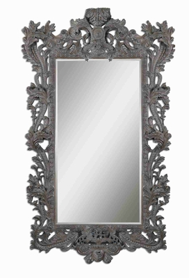 Galeton Majestic Wall Mirror with Burnished Rust Bronze Finish Brand Uttermost