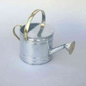 Galvanized Watering Can - Vintage Rust Free Iron Sprinkling Can Brand IOTC