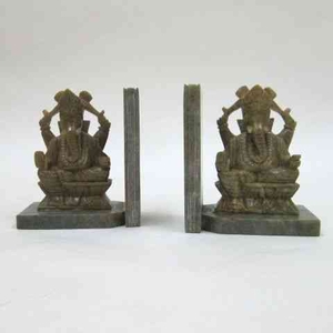 Ganesha Bookends - Magnificent Antique Hindu God Bookends Brand IOTC
