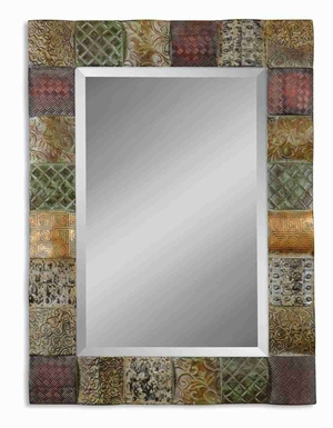 Ganya Wall Mirror with Combination Convex Wooden Square Frame Brand Uttermost