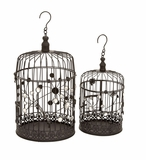 Garden Decor Round Metal Bird Cage Design Brand Woodland