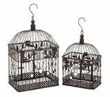 Garden Decor Square Metal Bird Cage Design Brand Woodland