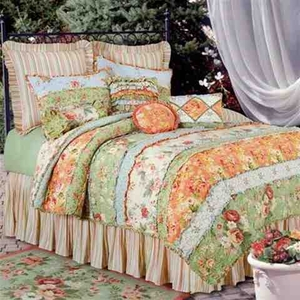 Garden Dreams Floral Quilt Luxury Os King  Bedding Ensembles Brand C&F