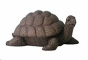 Garden Turtle Statue In Natural Moving Position With Raise Head Brand Domani