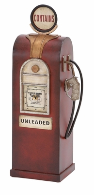 Gas Pump Decor - Turn of the Century Antique Gas Pump Clock Brand Woodland